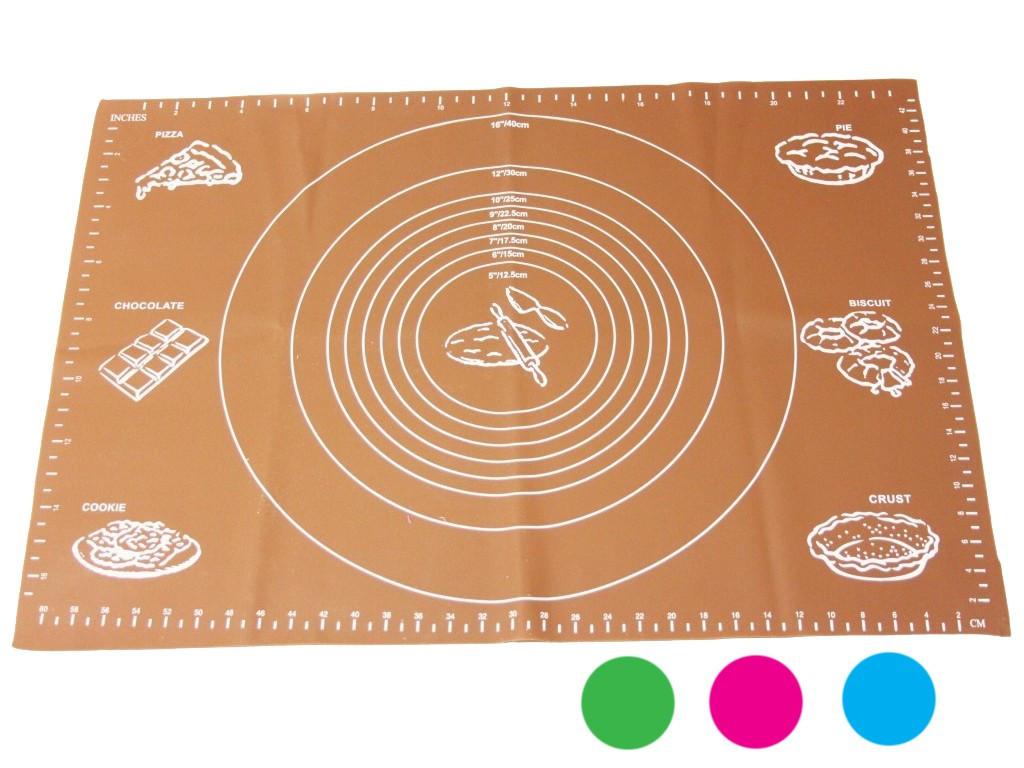 Silikonová podložka na válení, 64 x 45 cm různé barvy