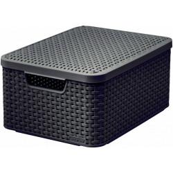 Box úložný s víkem STYLE M hnědý