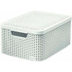 Úložný box s víkem STYLE M, krémový