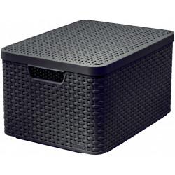 Box úložný s víkem STYLE 2 L hnědý