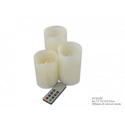 Svíčky s LED sada 3ks+ovladač