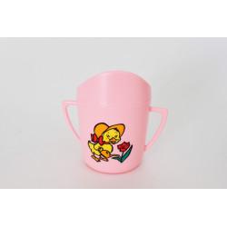 Hrnek kojenecký růžová barva s potiskem