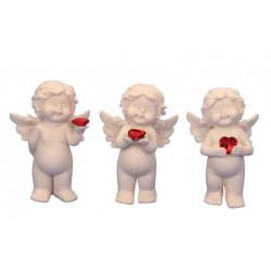 Anděl se srdcem 10,5cm mix