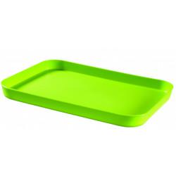 Podnos essentials zelený plastový