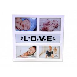 Fotorámeček LOVE na 4 fotografie 10x15cm