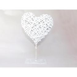 Srdce stojan bílé 31cm