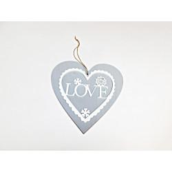 Dekorace srdce Love 20cm