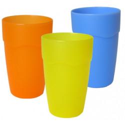 Pohárek plast 0,3 l různé barvy