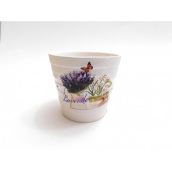 Květináč keramický 9cm LEVANDULE