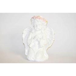 Anděl bílý klečící 16cm