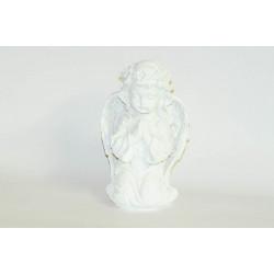 Anděl bílý klečící 23cm