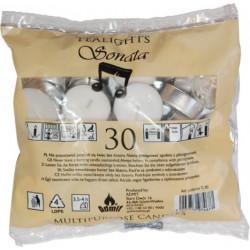 Svíčky čajové 30ks bez vůně