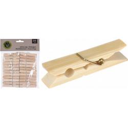 Kolíčky na prádlo dřevo 24 ks