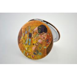 Zrcátko kapesní Klimt Kiss
