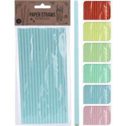 Slámky 16ks papír mix barev