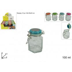 Dóza sklo 100ml různé barvy