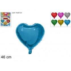 Balón Srdce 46cm různé barvy