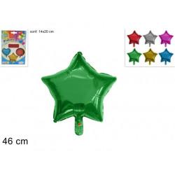Balón Hvězda 46cm různé barvy