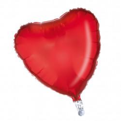 Balonek lesklý srdce 1ks