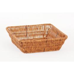 Košík pletený čtverec Wood