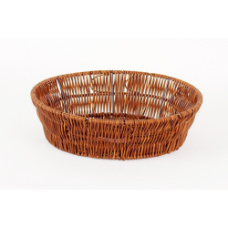 Košík pletený kulatý Wood