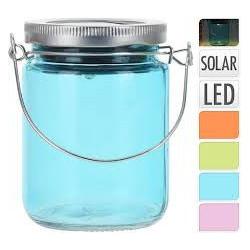 Solar dóza sklo 7x9cm mix barev