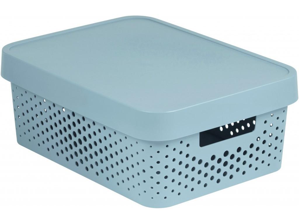 Box úložný s víkem 11L UH světle šedý