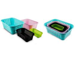 Košík Olive 3 různé barvy